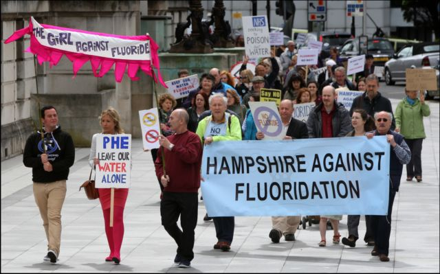 There have been numerous protests against adding fluoride to water supplies
