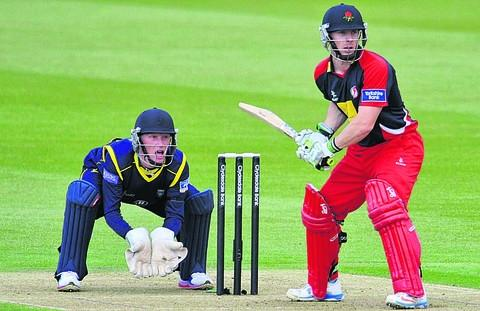 Romsey Advertiser: Alsop keeping wicket against Lancashire last year