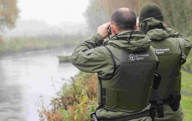 Environment Agency anti-poaching patrol on the River Test last year