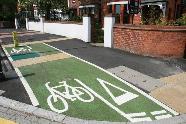 Romsey Advertiser: The borough could see more cycle-friendly paths like this one if it is awarded funding.