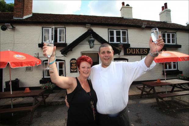 New landlord at the Dukes Head pub in Greatbridge, Shaun Green, pictured with his partner, Karen Hansford