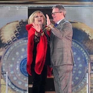 Linda Nolan and Jim Davidson arriving at the start of Celebrity Big Brother 2014 at the Big Brother House, Elstree Studios, Hertfordshire