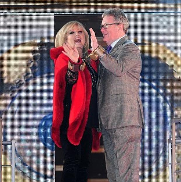 Romsey Advertiser: Linda Nolan and Jim Davidson arriving at the start of Celebrity Big Brother 2014 at the Big Brother House, Elstree Studios, Hertfordshire
