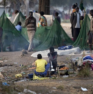 Thousands of families have had to leave their homes due to fighting in South Sudan (AP/Ben Curtis)