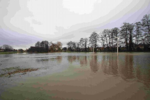 A flooded pitch in Southampton