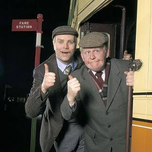 Ford Kiernan, right, with comedy co-star