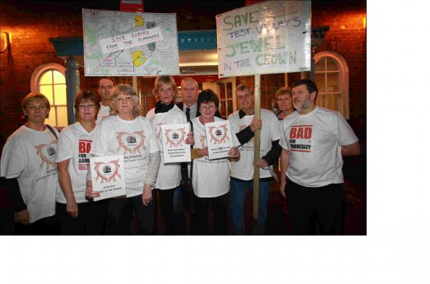 Romsave protesters at Wednesday's meeting