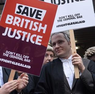 Romsey Advertiser: Barristers protest against Government plans to cut legal aid fees.