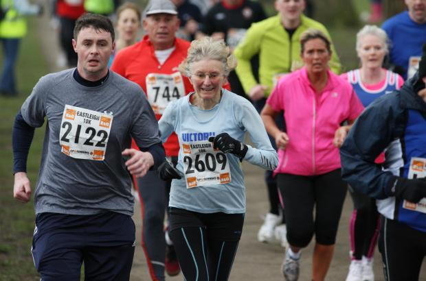 Action from the Eastleigh 10K