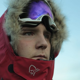 Lewis Clarke on his trek to the South Pole