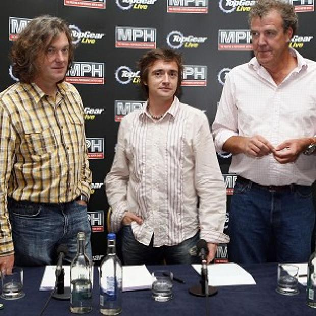 Romsey Advertiser: Top Gear presenters (left-right) James May, Richard Hammond and Jeremy Clarkson