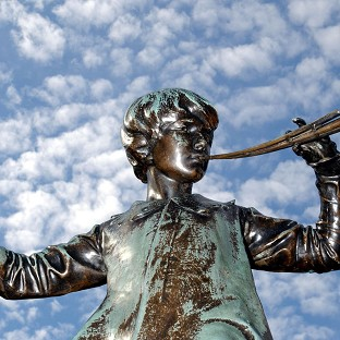 Auditions are being held for the role of Peter Pan (Sir George Frampton's statue of Peter Pan pictured) in a new big-screen adventure about the boy who never grows up.