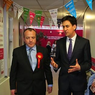 Labour Leader Ed Miliband helped new Wythenshawe and Sale East MP Michael Kane campaign