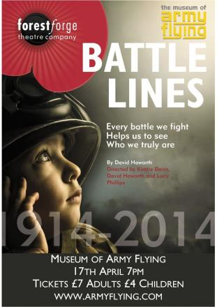 The Forest Forget Theatre Company will perform Battle Lines on April 17 at the Museum of Army Flying