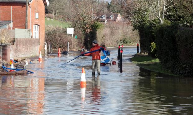 Flooding in Twyford earlier this month