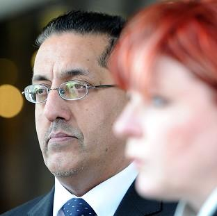 Romsey Advertiser: Nazir Afzal with Detective Chief Superintendent Mary Doyle outside Manchester Crown Court after a successful prosecution