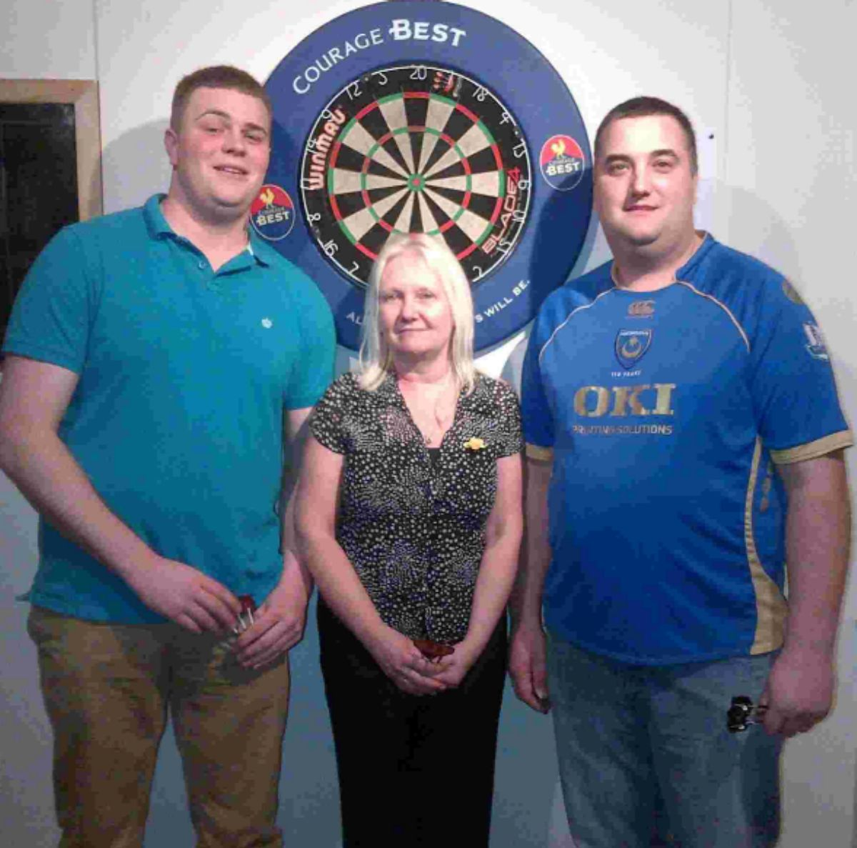 Triples winners Connor Bevis, Diana Herkes, Ian Hill.