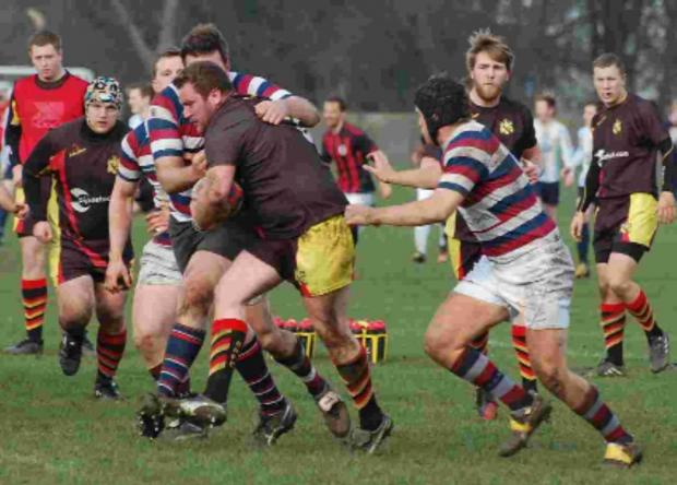 Dan Achillies in action against London Exiles – the prop will be in the thick of it against KCS