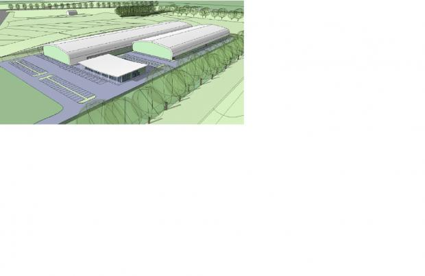 Image of how the indoor sports complex of Highwood Lane could look
