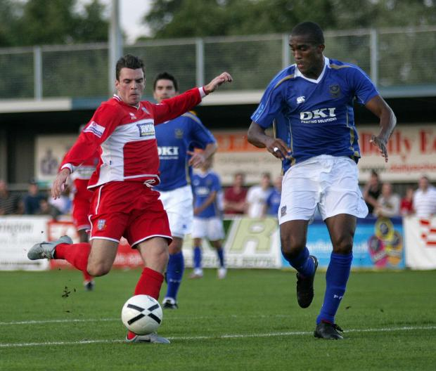 Romsey Advertiser: Eastleigh v Pompey in a friendly in 2007