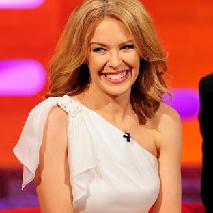 Romsey Advertiser: Kylie Minogue during filming of the Graham Norton Show