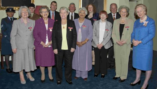 Lord-Lieutenant of Hampshire Dame Mary Fagan presented the British Empire Medal (BEM) Civil Division to ten Hampshire residents