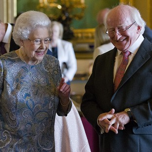 The Queen and Irish president Michael D Higgins in Windsor Castle