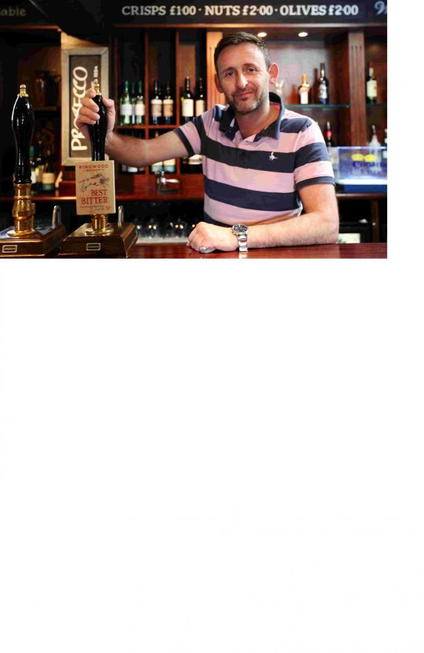 Romsey Advertiser: Marcus Pingriff, new publican at the King's Arms in Lockerley