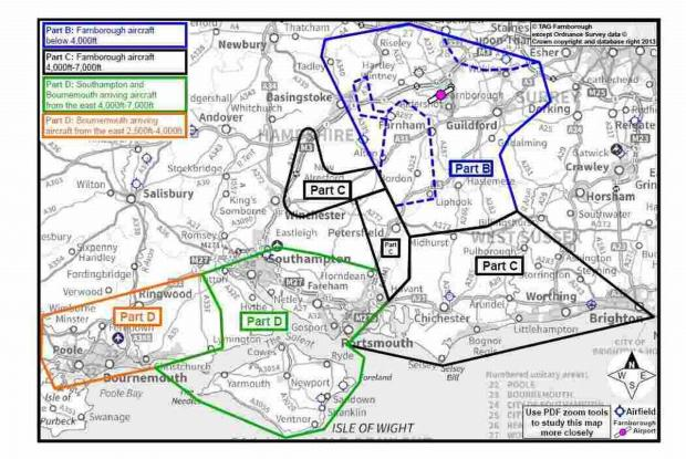 Romsey Advertiser: This diagram shows the areas that will be affected by the plans