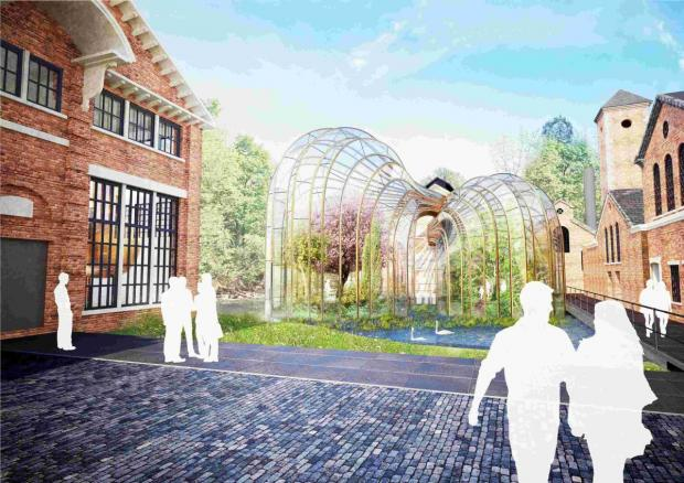 Architects' plans for the Bombay Sapphire gin distillery at Laverstoke Mill received the BREEAM Award for Industrial Design
