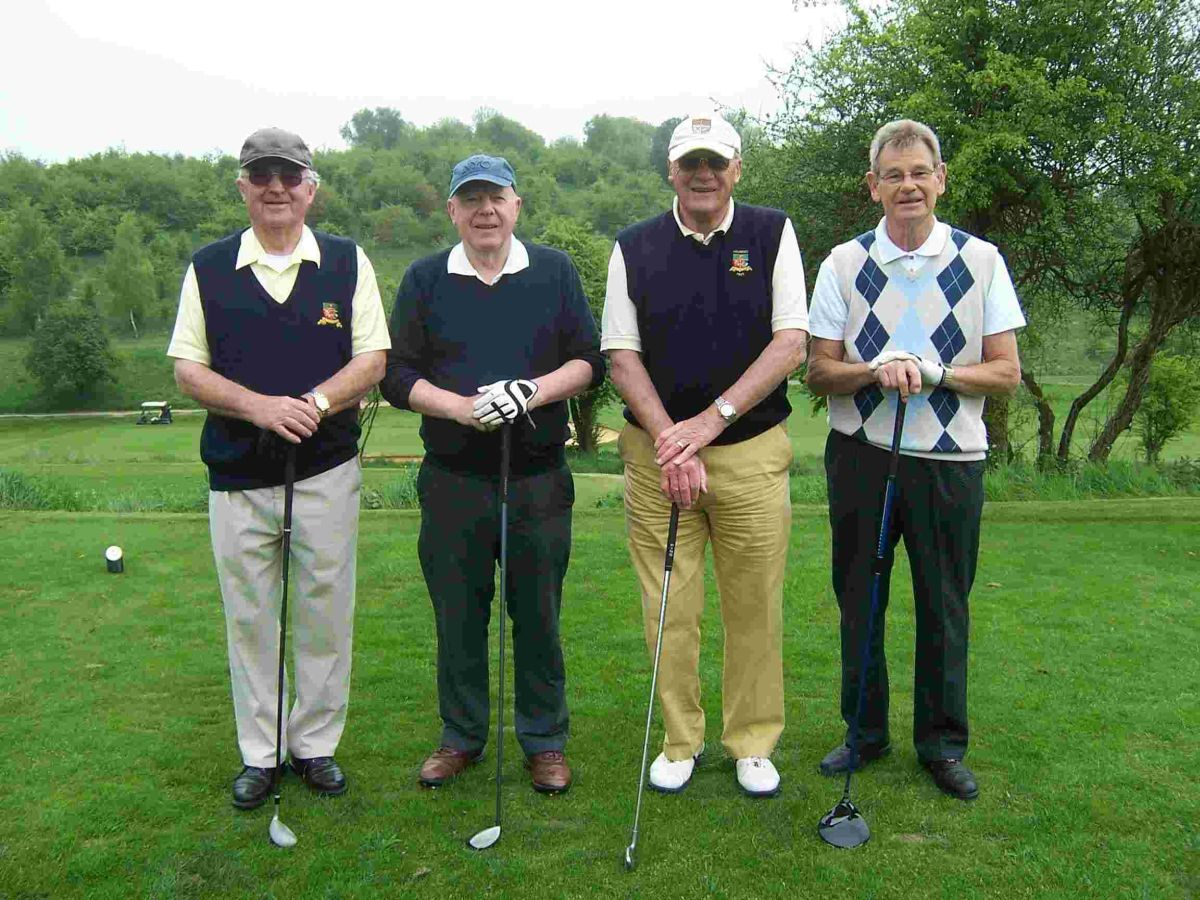 Pictured: Four supporters at last year's CAFOD golf day.