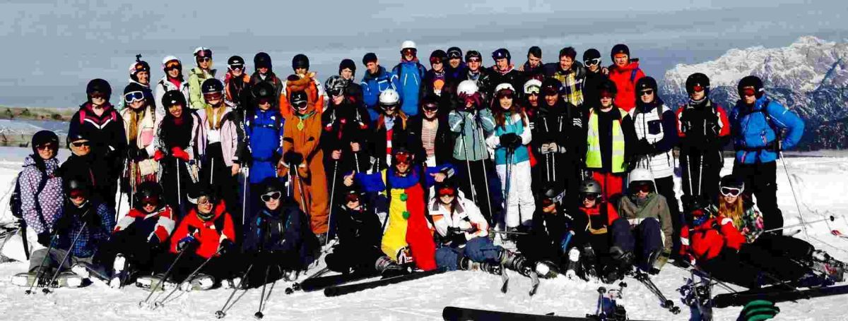 A team of teachers took 42 students from Wyvern Technology College to Saalbach i
