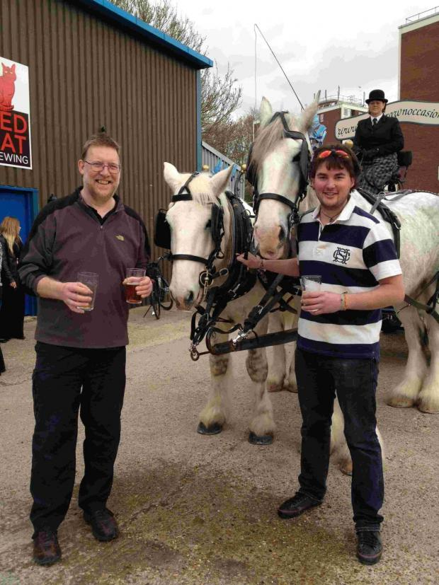 Romsey Advertiser: Andy Mansell (right) and Iain McIntosh at the new brewery