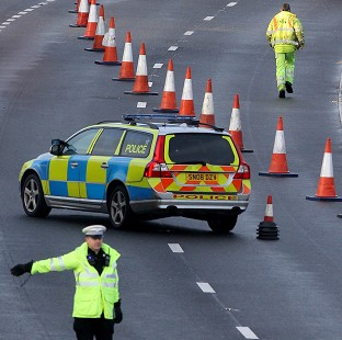 Two lorries, two cars and a box van were involved in a collision on the M26 in Kent