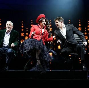 The X Factor musical I Can't Sing!, featuring Nigel Harman as Simon Cowell, Ashley Knight as Louis Walsh and V