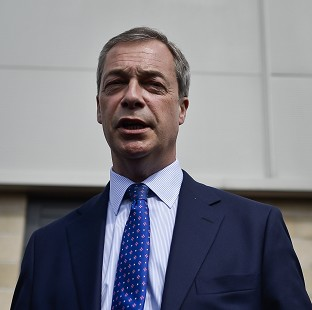 Farage hit by egg on campaign visit