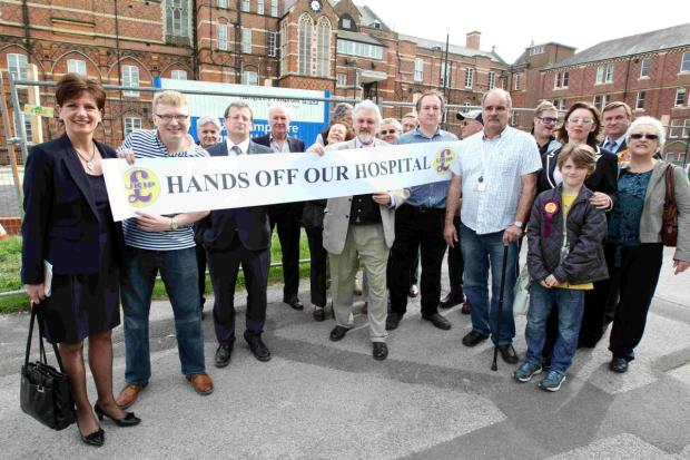 UKIP protest against threat of Winchester hospital closure