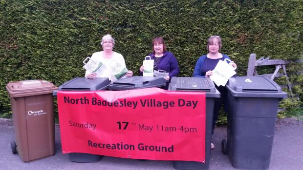Baddesley Fun Day organisers (from left) Chris Hill, Jackie Ferguson and Tracy Hickson claim  TVBC's bin allocation for the day is inadequate