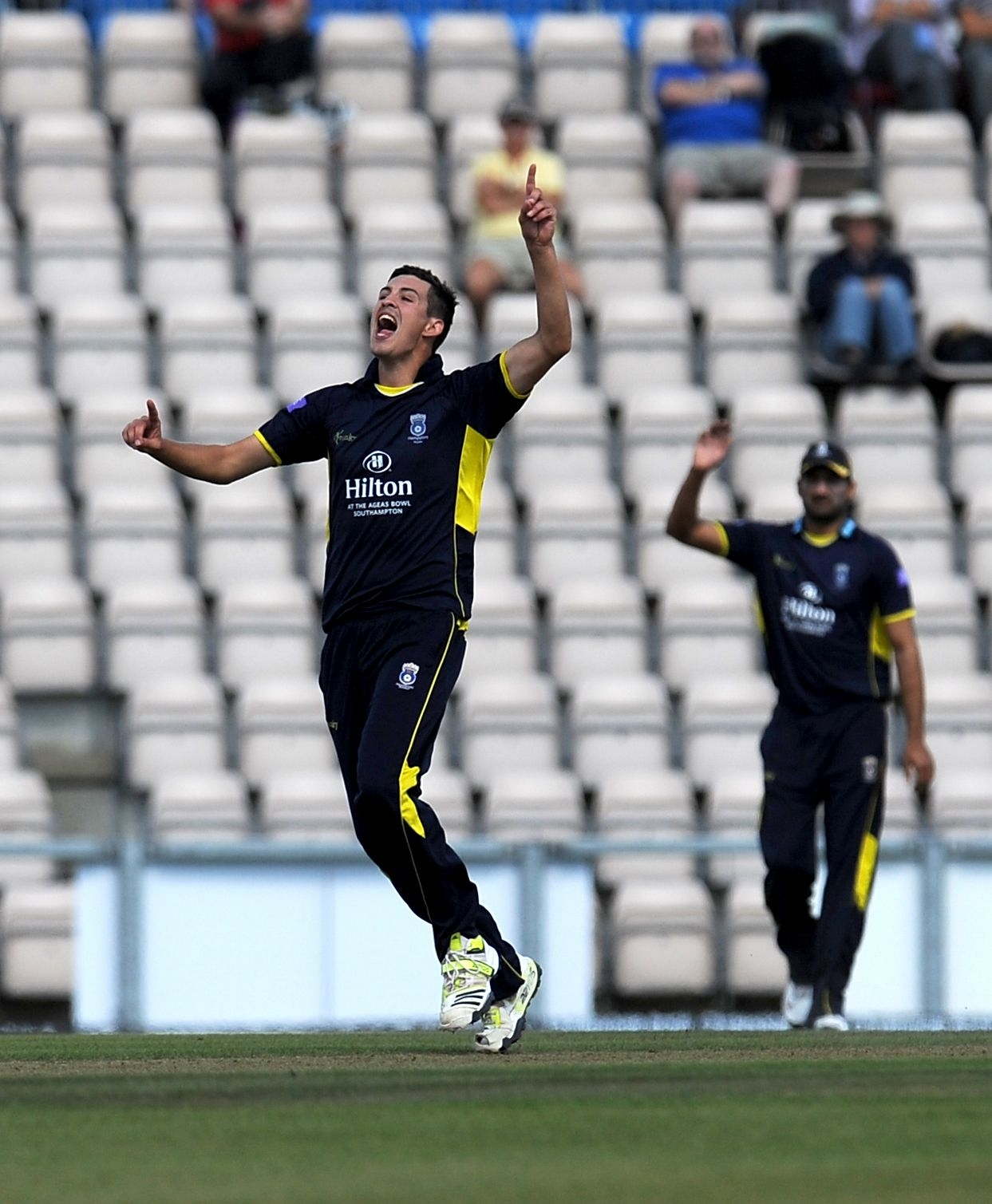 Basingstoke bowler Chris Wood