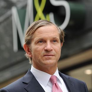 Marks and Spencer profits fell for a third year in a row, piling pressure on chief executive Marc Bolland