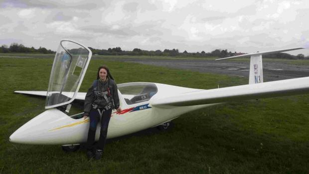 Zoe Mallam flies with the Portsmouth Naval Gliding Centre