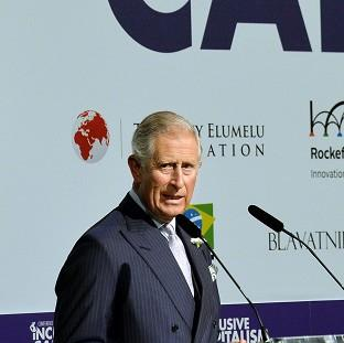The Prince of Wales during his address to the Inclusive Capitalis