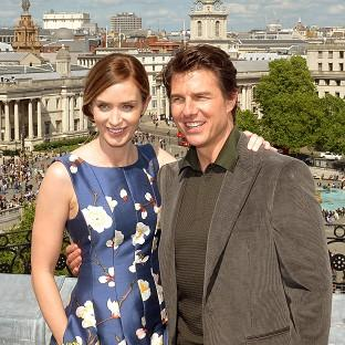 Romsey Advertiser: Emily Blunt and Tom Cruise star in Edge Of Tomorrow.