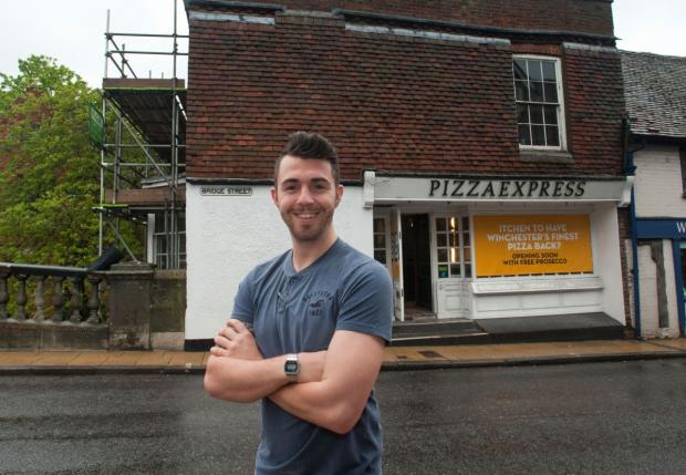 Romsey Advertiser: Restaurant manager Stephen Moore pictured outside the soon-to-be opened eaterie