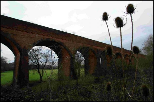 Romsey Advertiser: The Hockley Viaduct that carried the Didcot, Newbury and Southampton Railway