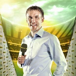 Phil Neville thanked viewers for their criticism after complaints about his commentary (Andrew Hyyes-Watkins/BBC/PA)