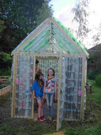 Beavers, cubs and scouts from the 3rd Winchester unit, better known as The Worthies, helped Lanterns Nursery School and Children's Centre in Weeke build a greenhouse.