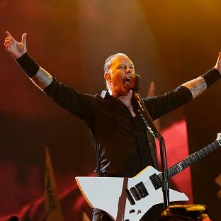 Romsey Advertiser: James Hetfield of Metallica performing on the Pyramid Stage at the Glastonbury Festival