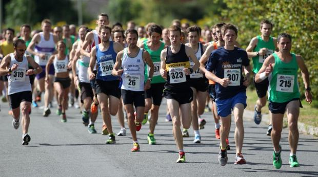 Runners at the start of the Lordshill 10k