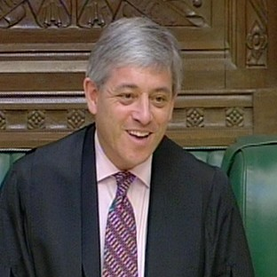Speaker of the House of Commons, John Bercow.
